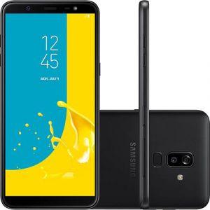Smartphone Samsung Galaxy J8 64GB Dual Chip Android 8.0 Tela 6 Octa Core 1.8GHz 4G Câmera 16MP F1.7 + 5MP F1.9 (Dual Cam) Preto