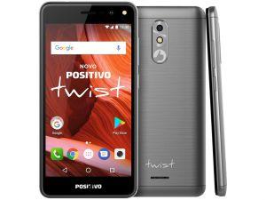 Smartphone Twist S511 Cinza, 16GB, 1GB RAM, Android 7.0, Quad-Core, Camera de 8MP com Flash e tela de 5 Polegadas