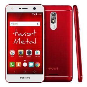 Smartphone Twist S530 16GB Vermelho Quad-Core, 16GB, WiFi,Dual SIM, Tela 5.2, Câmera 8MP e Frontal 8MP, Android 7.0