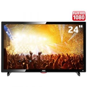 TV LED 24 AOC LE24D1461 Full HD com Conversor Digital 2 HDMI 1 USB 60Hz