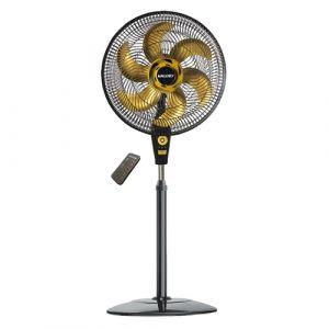 Ventilador de Coluna Mallory Air Time TS+ 6 Pás  Preto/Dourado