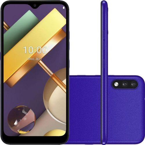 Smartphone LG K22 32GB Dual Chip Android 10 Tela 6.2 Quad Core 4G Câmera 13MP+2MP Azul