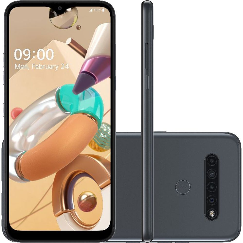 Smartphone LG K41S 32GB 4G Octa-Core 3GB RAM Tela de 6,55 Câmera Quádrupla 13M+W5M+D2M+M2M + Selfie 8MP Titânio