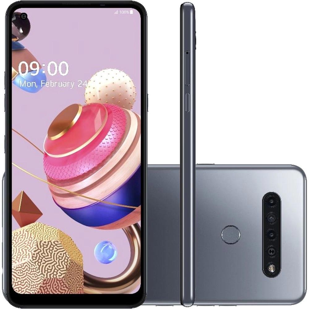 Smartphone LG K51S Dual Chip Android 9.0 Tela 6.55 Octa Core 64GB 4G Câmera 32MP+5MP+2MP+2MP - Titânio