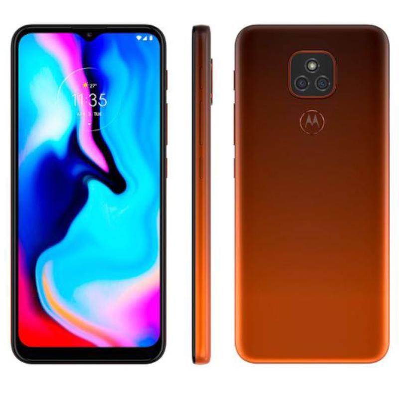 Smartphone Motorola Moto E7 Plus Dual Chip Android 10 Tela 6.5 64GB 4G Câmera 48MP+2MP Qualcomm Snapdragon Bronze Âmbar