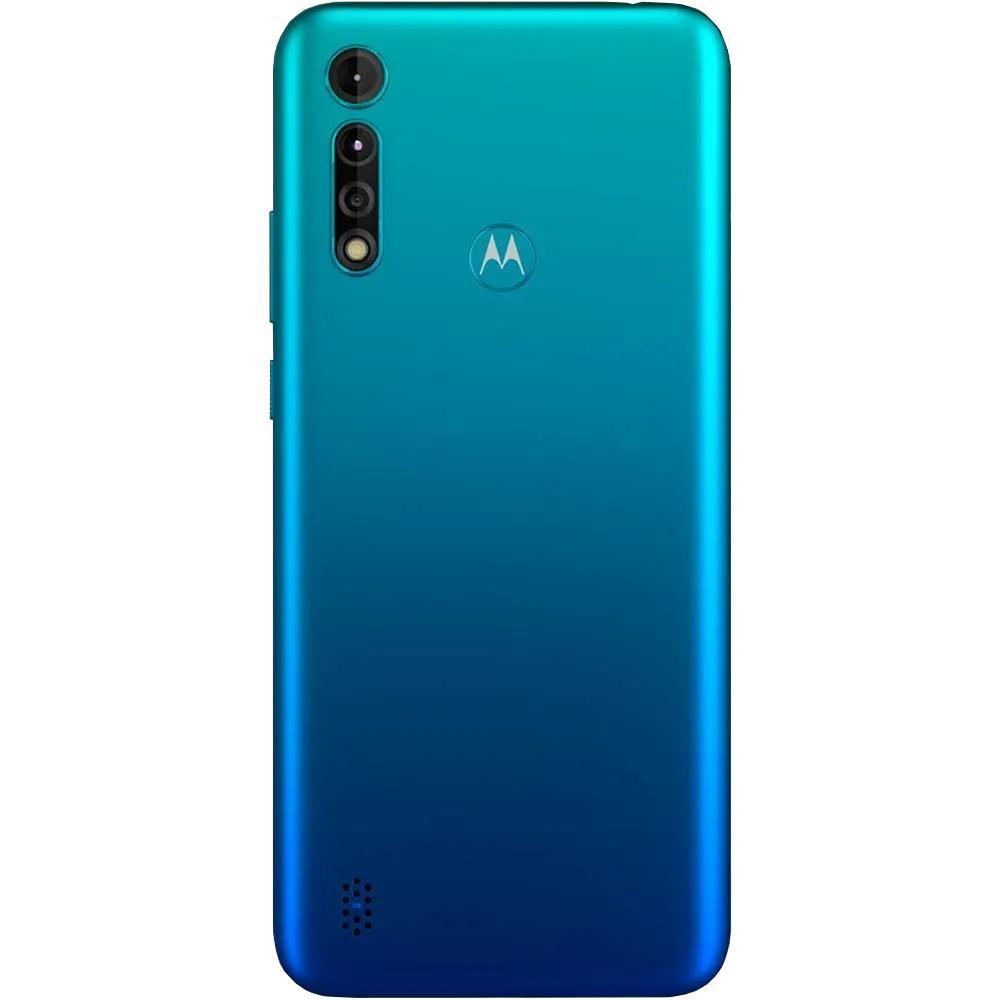 Smartphone Motorola Moto G8 Power Lite Dual Chip Desbloqueado Android Tela 6.5 64GB 4G Câmera 16MP+ 2MP+ 2MP Processador Helio P35 Aqua