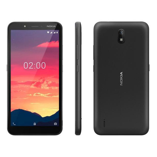 Smartphone Nokia C2 16GB Preto 4G 1GB RAM 5,7 Câmera 5MP Selfie 5MP Dual Chip NK010