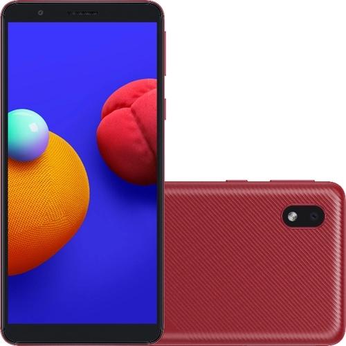Smartphone Samsung Galaxy A01 Core 32GB Dual Chip Android 10.0 Tela 5.3 Quad-Core Wi-Fi Câmera 8MP Vermelho