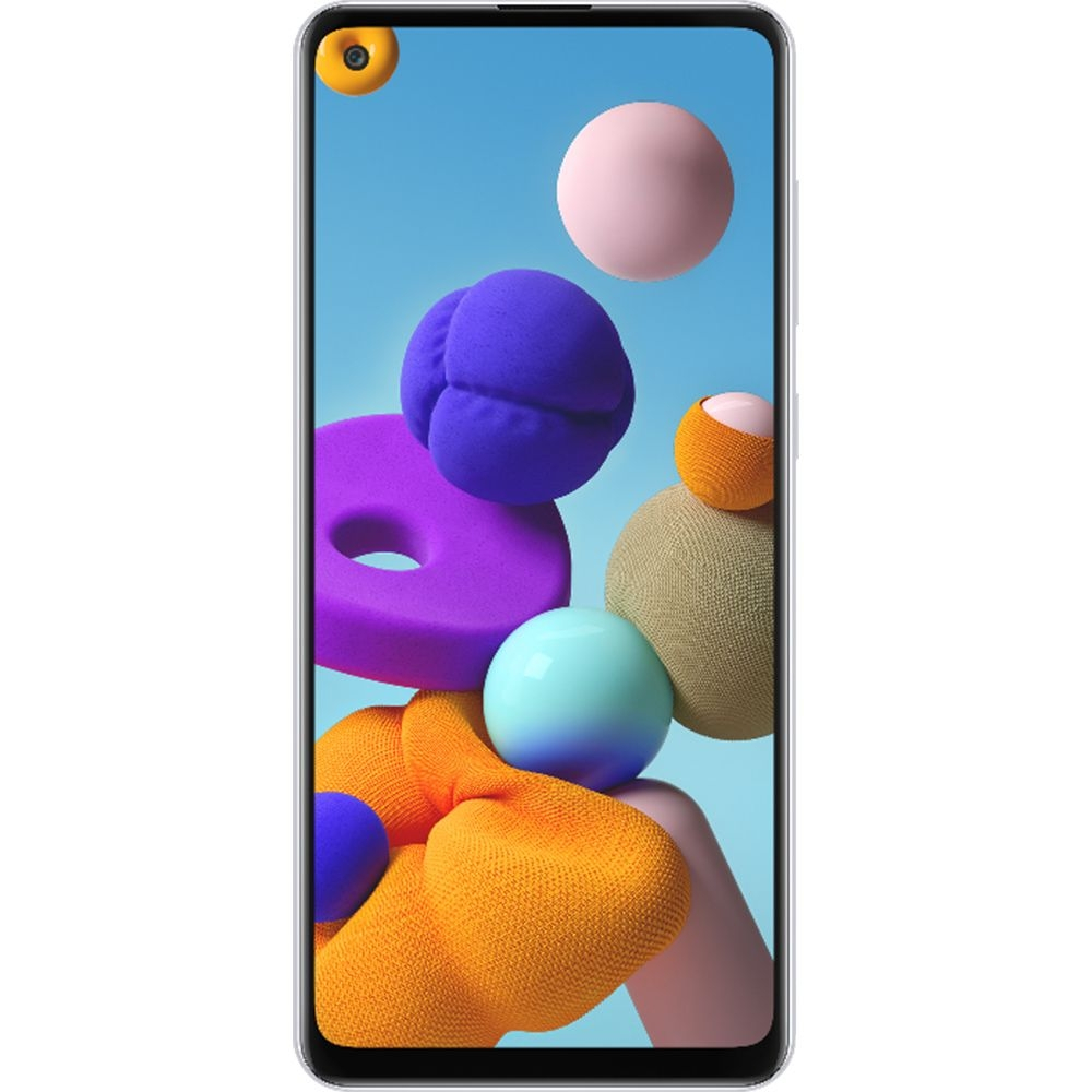 Smartphone Samsung Galaxy A21s 64GB Dual Chip Android 10 Tela 6.5 Octa-Core 4G Câmera Quádrupla 48MP+8MP+2MP+2MP Branco