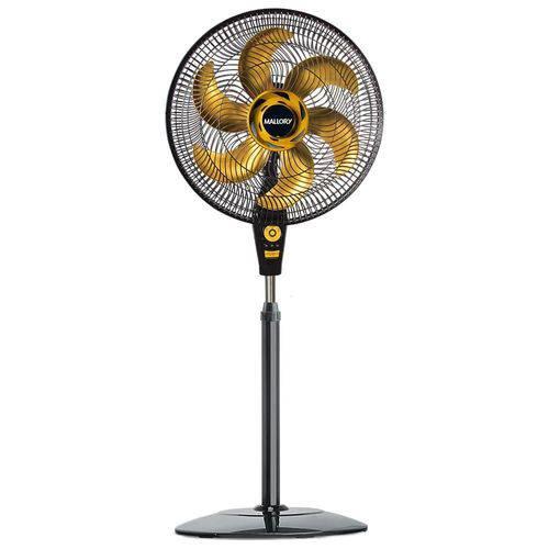 Ventilador de Coluna Mallory Delfos TS 40cm Preto/Dourado 220V